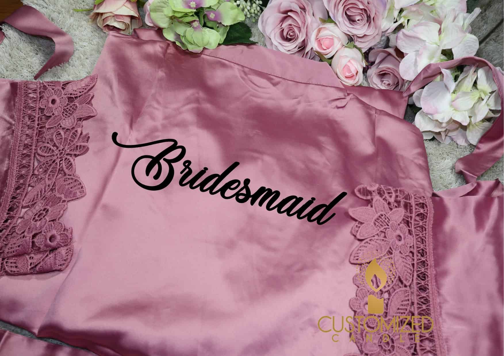 Personalised Wedding Robes Wedding Robes Bridal Party Bridesmaid Gift